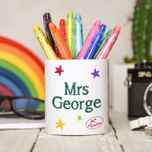 Personalised Teacher Pencil Pot