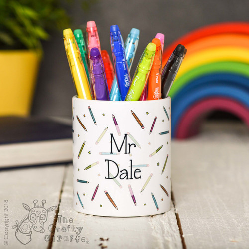 Personalised Pencil Pencil Pot