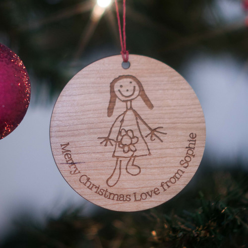 Child's Drawing/Handprint Christmas Decoration