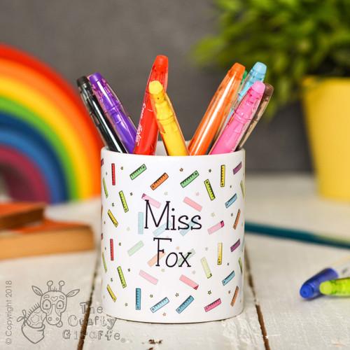 Personalised Ruler Pencil Pot