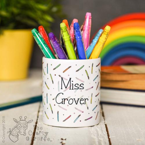 Personalised Paintbrush Pencil Pot