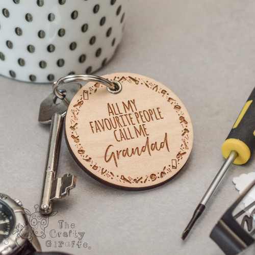 Personalised All my favourite people call me - Tools - Keyring