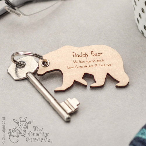 Personalised Standing Bear Keyring