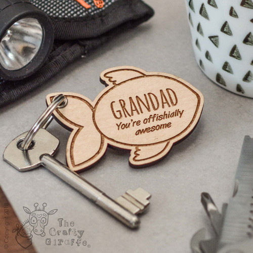 Personalised Fish Keyring