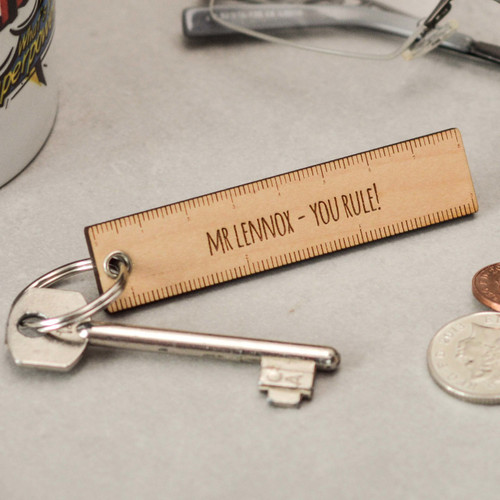 Personalised Ruler Teacher Keyring
