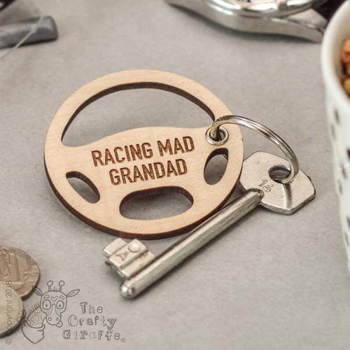 Personalised Steering Wheel Keyring