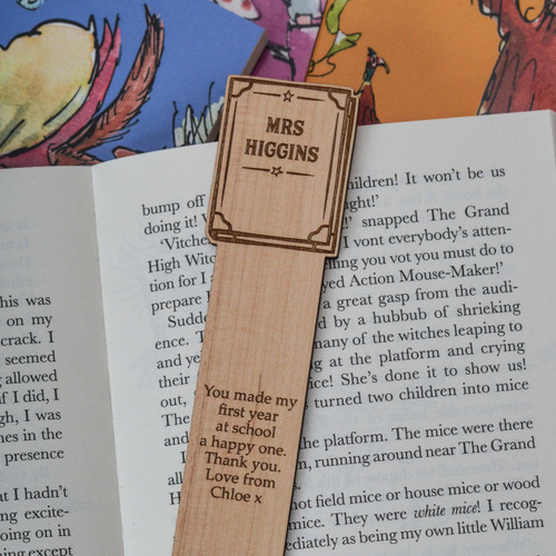 Personalised Book Bookmark