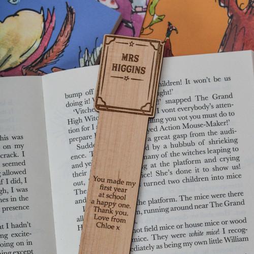 Personalised Book Bookmark