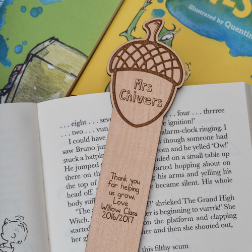 Personalised Acorn Bookmark