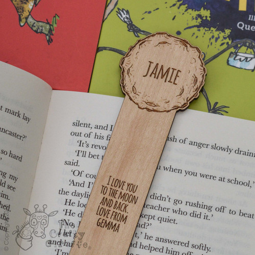 Personalised Moon Bookmark