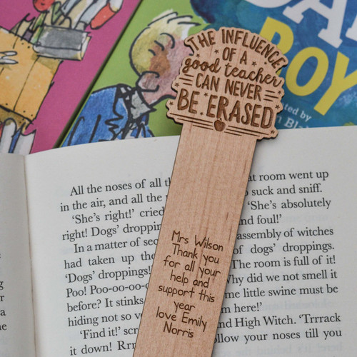 Personalised The influence of a good teacher can never be erased Bookmark