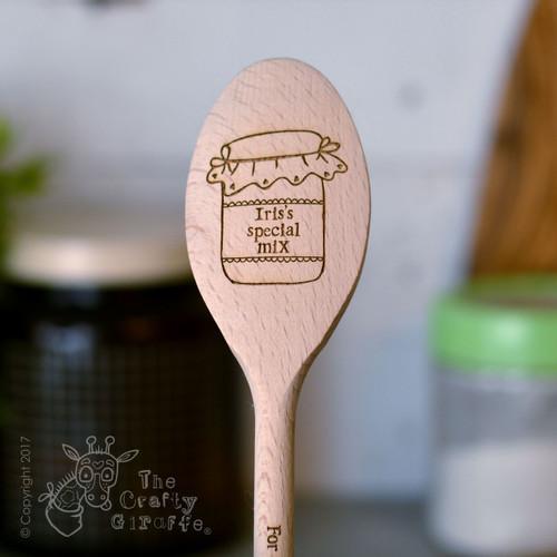 Personalised Jar Wooden Spoon