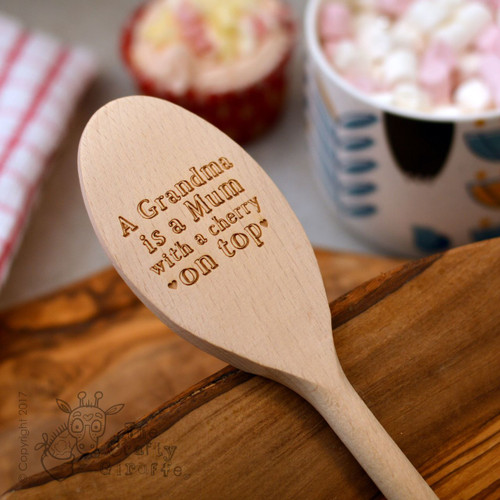 "Personalised ""Cherry on top"" Spoon"