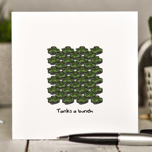 Tanks a bunch Card