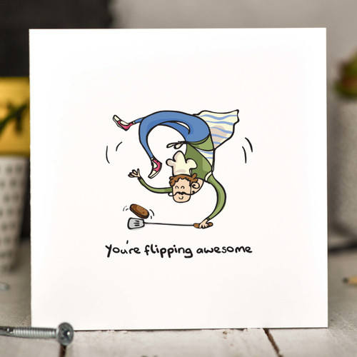 You're flipping awesome BBQ Card