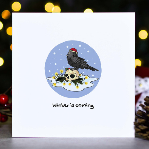 Winter is coming - Raven GOT Christmas Card