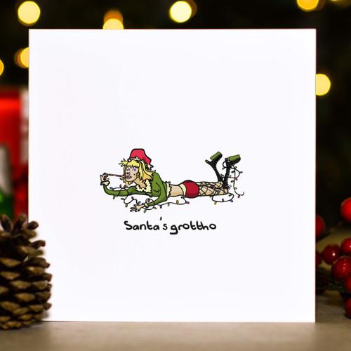 Santa's grottho Christmas Card