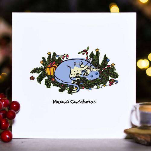 Meowi Christmas Card