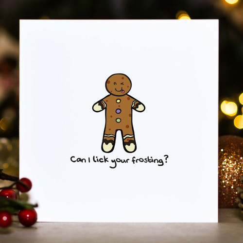 Can I lick your frosting? Christmas Card