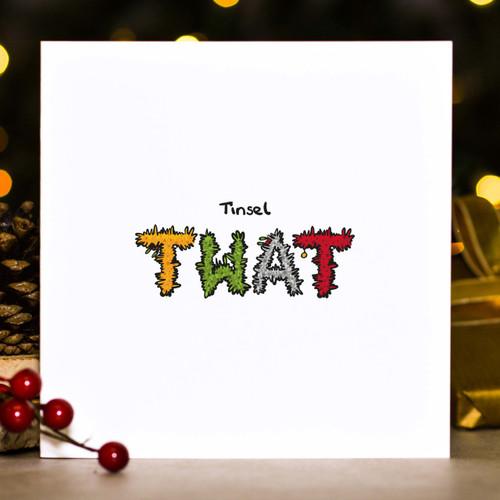Tinsel Twat Christmas Card