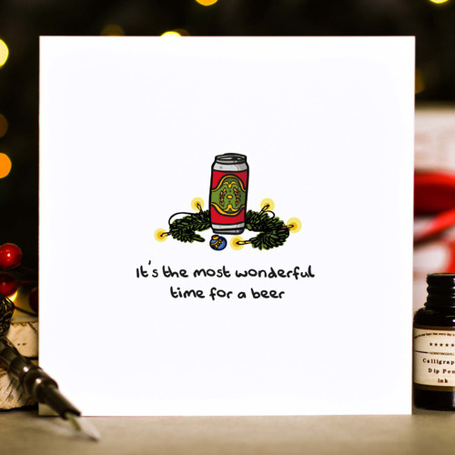 It's the most wonderful time for a beer Christmas Card