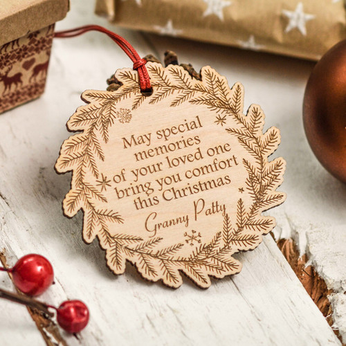 Personalised Wreath Remembrance Decoration