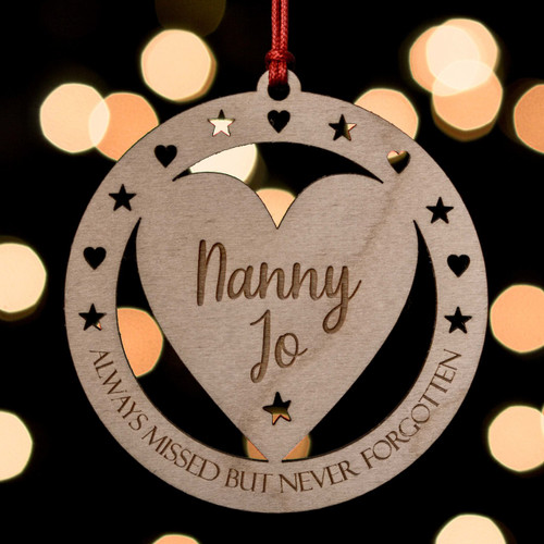 Personalised Never Forgotten Remembrance Decoration