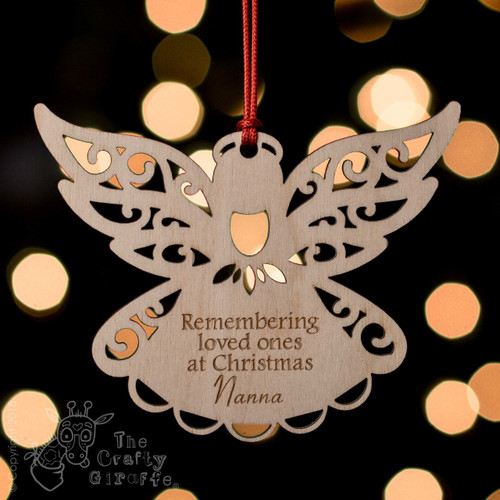 Personalised Remembrance Angel Decoration