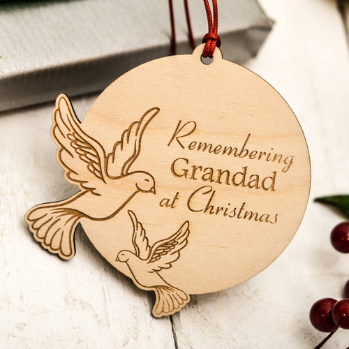 Personalised Doves Remembrance Decoration