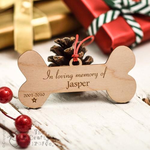 Personalised Bone Remembrance Decoration