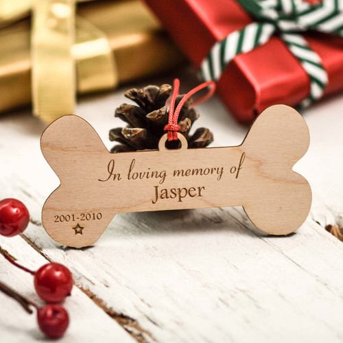 Personalised Bone Remembrance Decoration