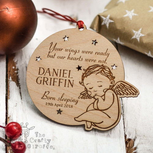 Personalised Your wings were ready Remembrance Decoration