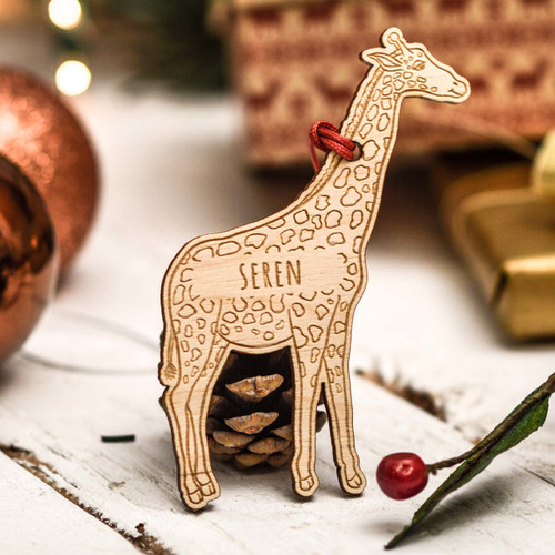 Personalised Giraffe Decoration