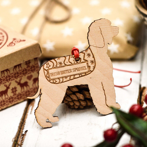 Personalised Irish Water Spaniel Decoration