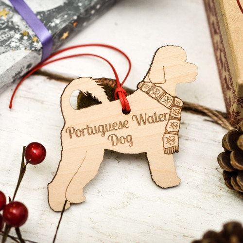 Personalised Portuguese Water Dog Decoration