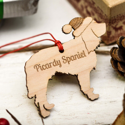Personalised Picardy Spaniel Decoration