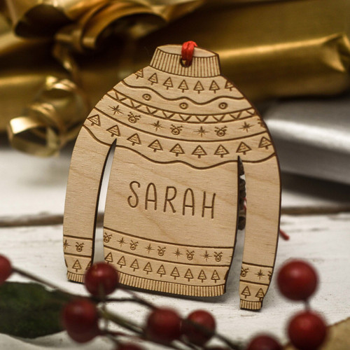 Personalised Christmas Jumper Decoration