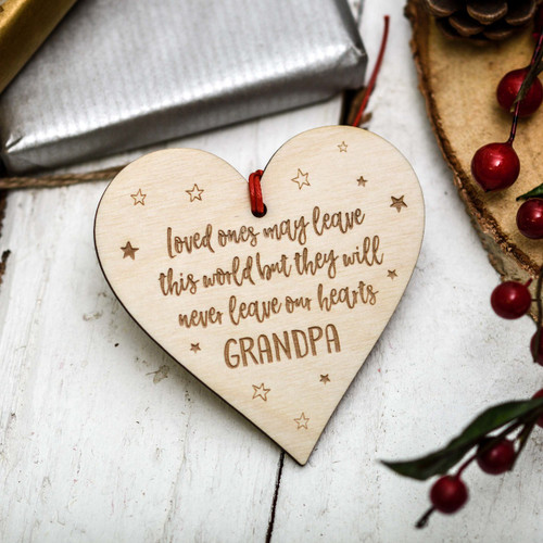 Personalised Loved Ones Heart Decoration