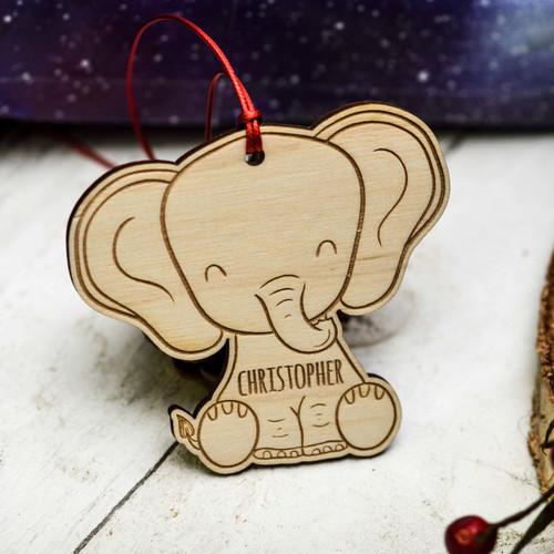 Personalised Elephant Decoration