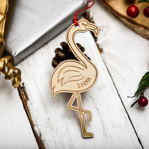 Personalised Flamingo Decoration