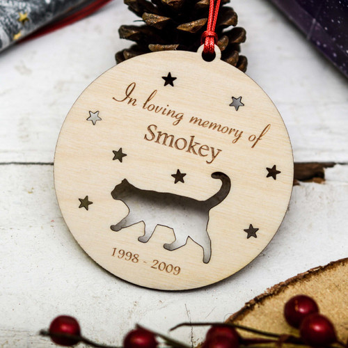 Personalised Cat Remembrance Decoration
