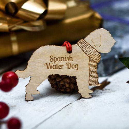 Personalised Spanish Water Dog Decoration
