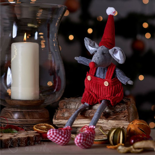 Tall Mouse in Red Dungarees Decoration