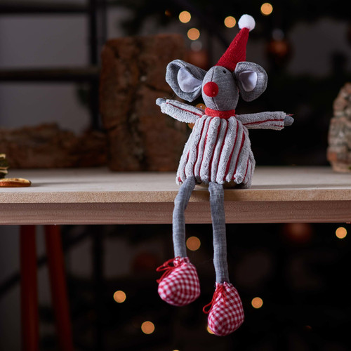Tall Mouse in Stripy Shirt Decoration