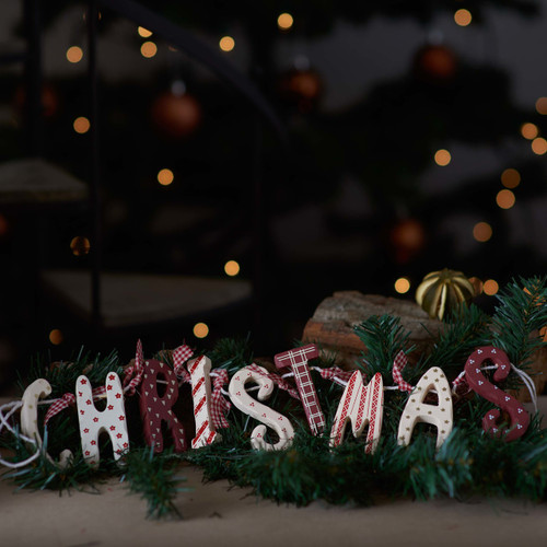 Wooden Garland Decoration 'Christmas'