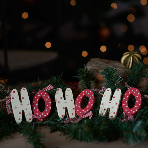 Wooden Garland Decoration 'HoHoHo'