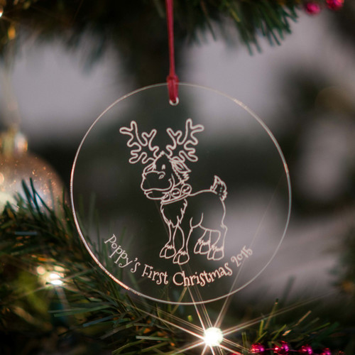 Personalised Reindeer Bauble