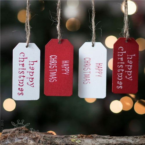 Happy Christmas Tags