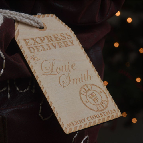 Personalised Christmas Santa Sack Tag