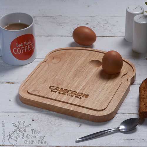 Personalised Breakfast Egg Board - Eat eggs you will